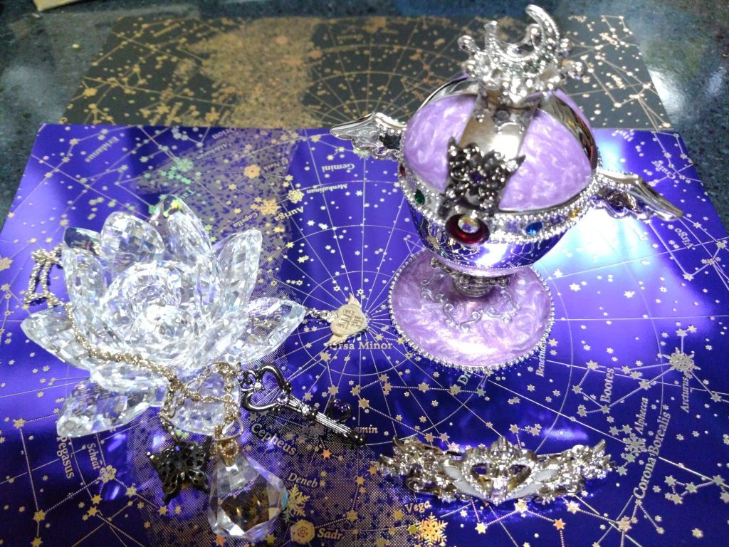 Swarovski 'WaterLiliy' ANASUI 'Rainbow Moon Chalice Jewely Box'
